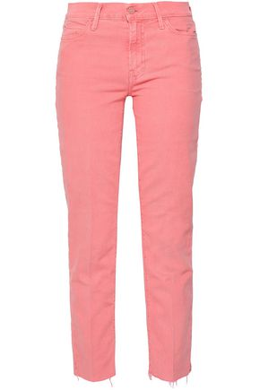 MOTHER Mid-rise slim-leg jeans