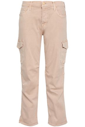 MOTHER Stretch-gabardine straight-leg pants