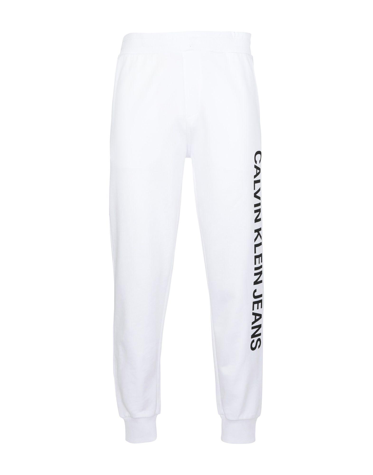 《送料無料》CALVIN KLEIN JEANS メンズ パンツ ホワイト S コットン 100% INSTITUTIONAL SIDE L