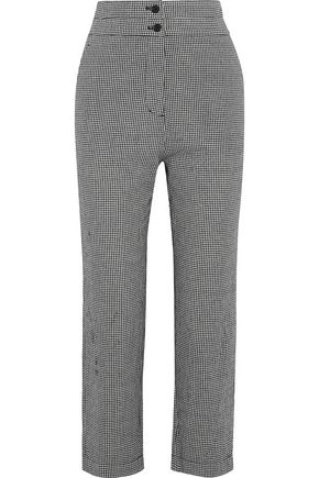 IRIS & INK Rowan cropped gingham cotton straight-leg pants