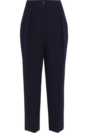 SEE BY CHLOÉ Cropped pleated crepe tapered pants
