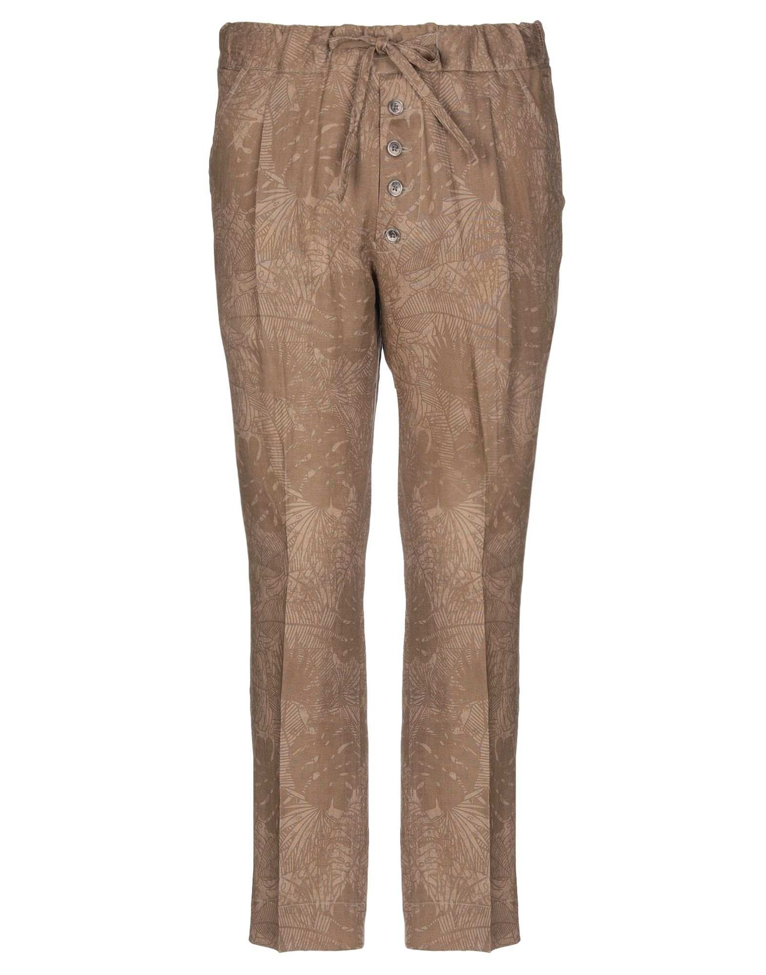 《セール開催中》ALESSANDRO DELL'ACQUA メンズ パンツ キャメル 48 麻 100%