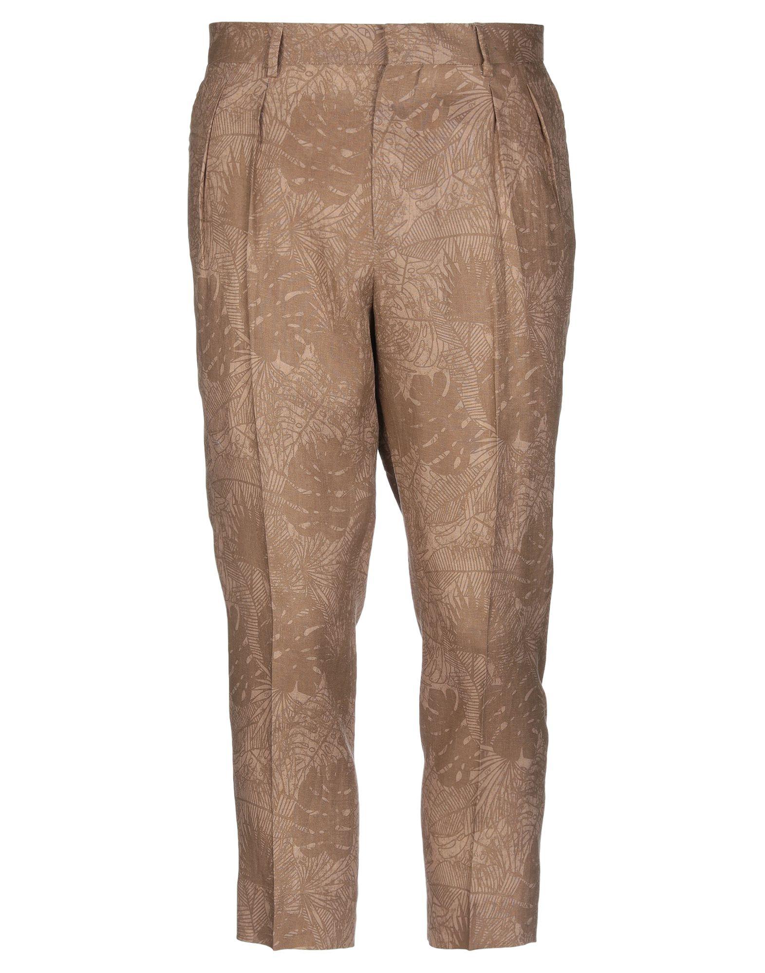 《セール開催中》ALESSANDRO DELL'ACQUA メンズ パンツ キャメル 46 麻 100%