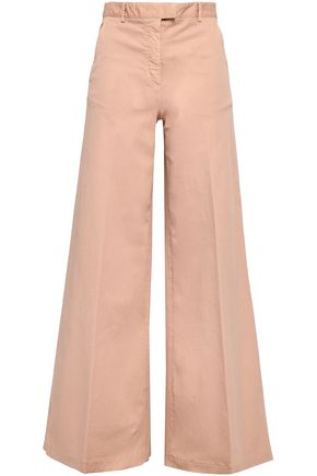 REDValentino Stretch-cotton twill wide-leg pants