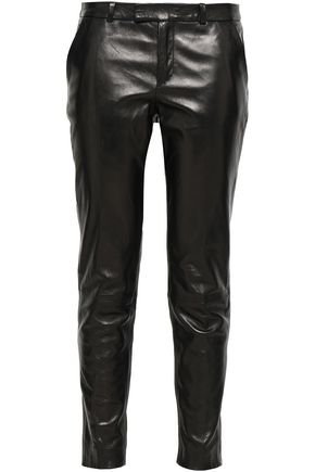 REDValentino Leather slim-leg pants