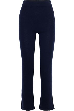 IRIS & INK Lila cashmere and wool-blend track pants