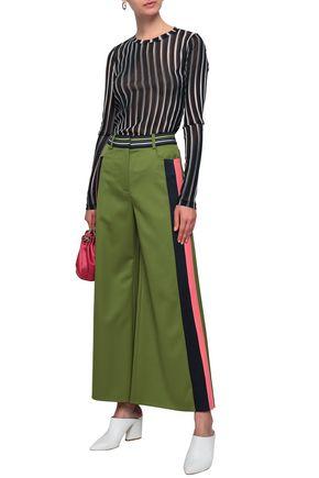PETER PILOTTO Striped crepe wide-leg pants