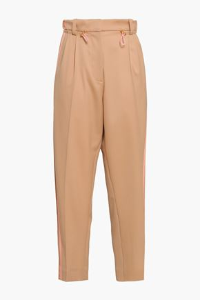PETER PILOTTO Striped wool-twill tapered pants