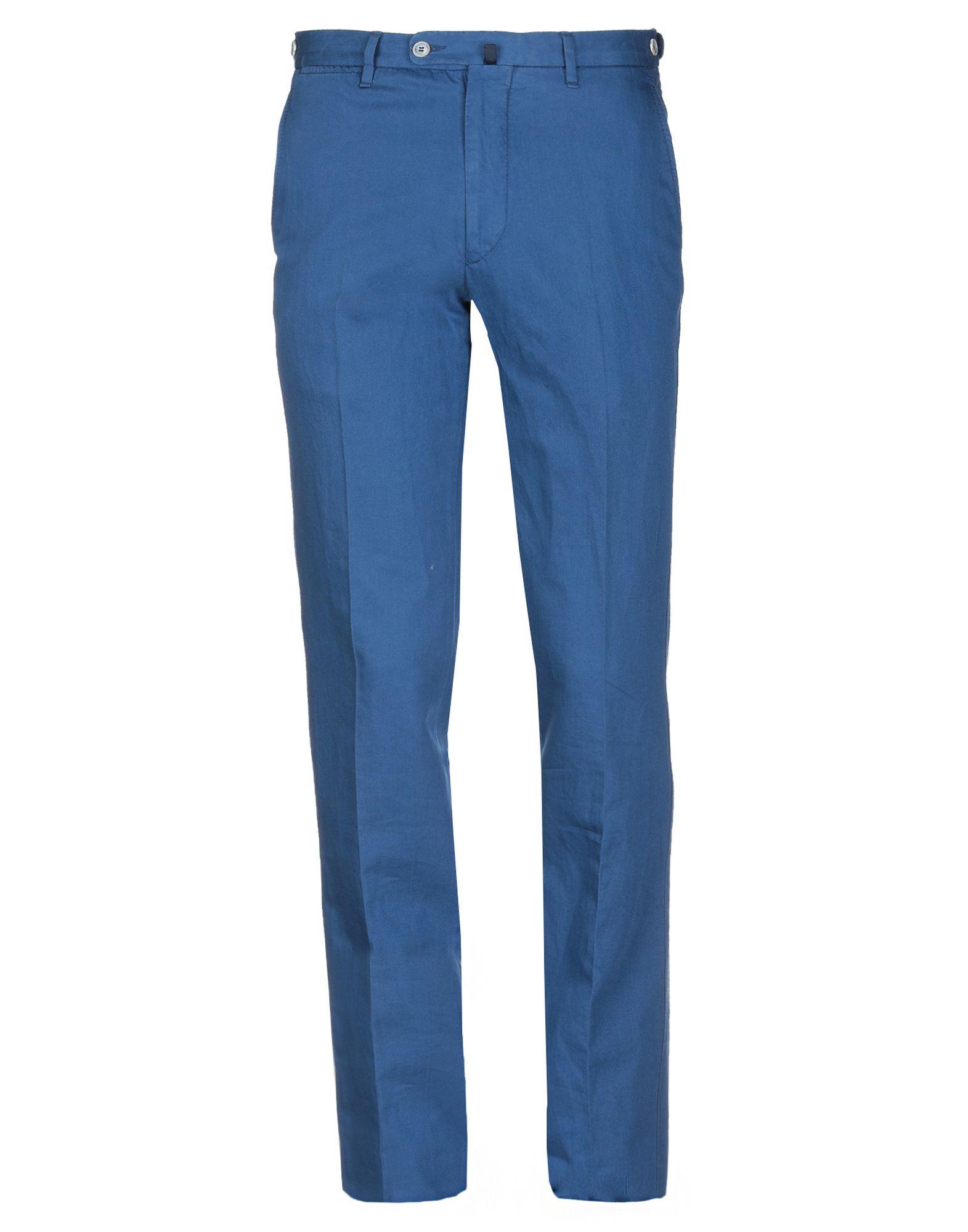 《送料無料》VIGANO' メンズ パンツ ブルー 48 コットン 71% / 麻 29%