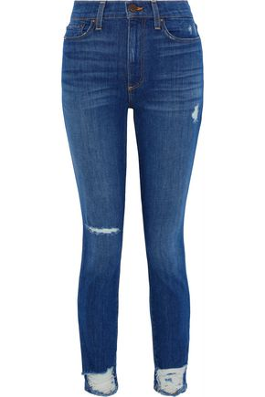 ALICE + OLIVIA JEANS Good distressed high-rise skinny jeans