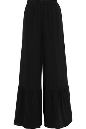 REDValentino Stretch-silk chiffon wide-leg pants