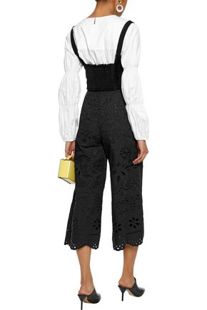 REDValentino Broderie anglaise cotton culottes