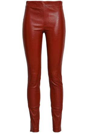 HELMUT LANG Stretch-leather slim-leg pants