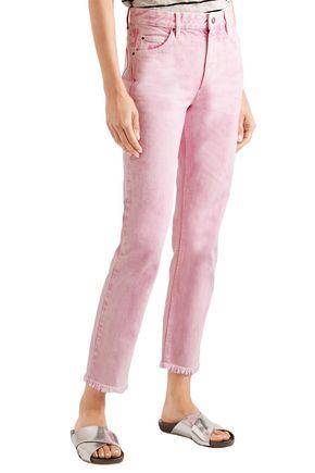 ISABEL MARANT ÉTOILE Flovera frayed high-rise slim-leg jeans