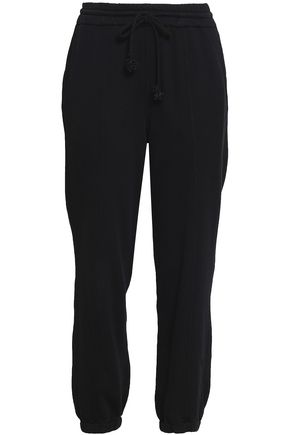HELMUT LANG French cotton-terry track pants