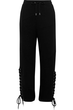 McQ Alexander McQueen Lace-up cotton-jersey track pants