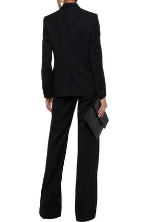 STELLA McCARTNEY Grosgrain-trimmed wool wide-leg pants