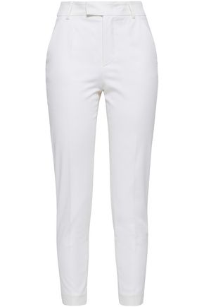 REDValentino Cropped cotton-blend twill skinny pants