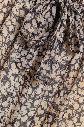 ZIMMERMANN Printed silk-georgette wide-leg pants
