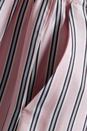 ZIMMERMANN Striped twill wide-leg pants
