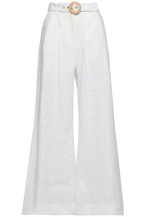 ZIMMERMANN Radiate belted linen wide-leg pants