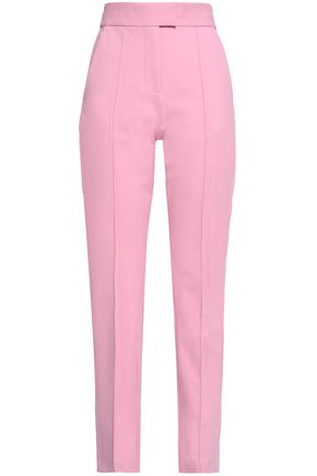 MSGM Pleated stretch-cotton tapered pants