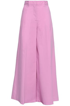 Stretch Cotton Culottes by Msgm
