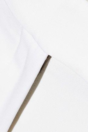 STELLA McCARTNEY Grosgrain-trimmed wool wide-leg pants