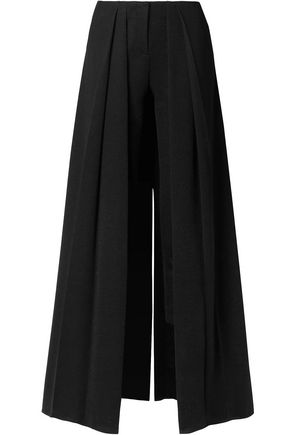 HELLESSY Layered metallic stretch-knit slim-leg pants