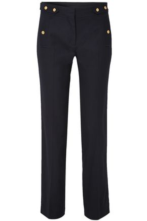 VANESSA BRUNO Cotton-blend piqué straight-leg pants