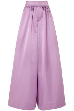 J.CREW Satin wide-leg pants