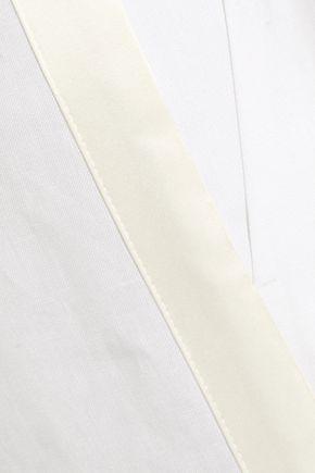 RACIL Agadir satin-trimmed linen wide-leg pants