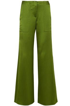 HELLESSY Patton silk-satin flared pants