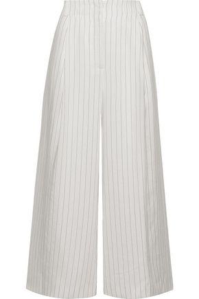 RACHEL ZOE Jennifer pinstriped woven culottes
