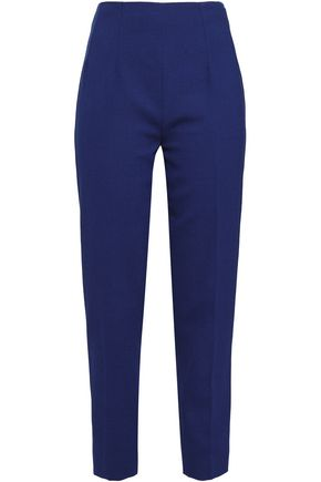 EMILIA WICKSTEAD Cropped wool-crepe slim-leg pants