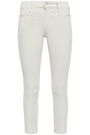 MOTHER Cotton-blend corduroy skinny pants