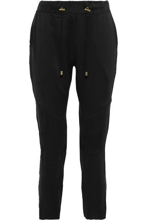 BALMAIN Silk tapered pants