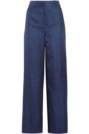 J.CREW Printed twill wide-leg pants