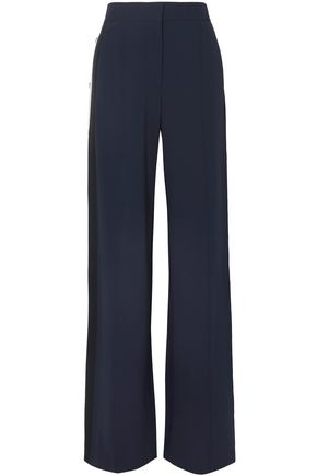 VERONICA BEARD Russo snap-detailed stretch-crepe wide-leg pants