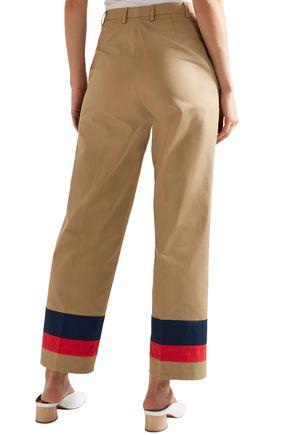 TOME Printed cotton-twill straight-leg pants