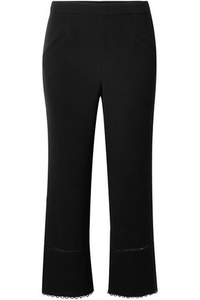 RACHEL ZOE Cropped crepe bootcut pants