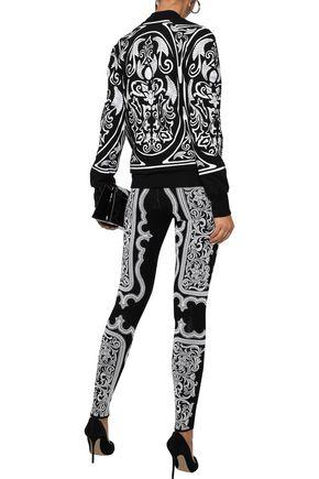 BALMAIN Jacquard-knit leggings