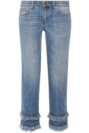 MICHAEL MICHAEL KORS Cropped mid-rise slim-leg jeans
