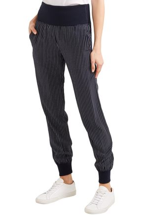 THEORY Silk tapered pants