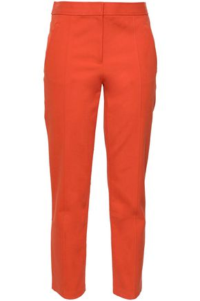 TORY BURCH Stretch-cotton straight-leg pants