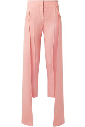 HELLESSY Cropped draped crepe slim-leg pants