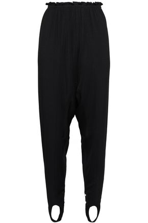 PACO RABANNE Ruffled stretch-jersey tapered pants
