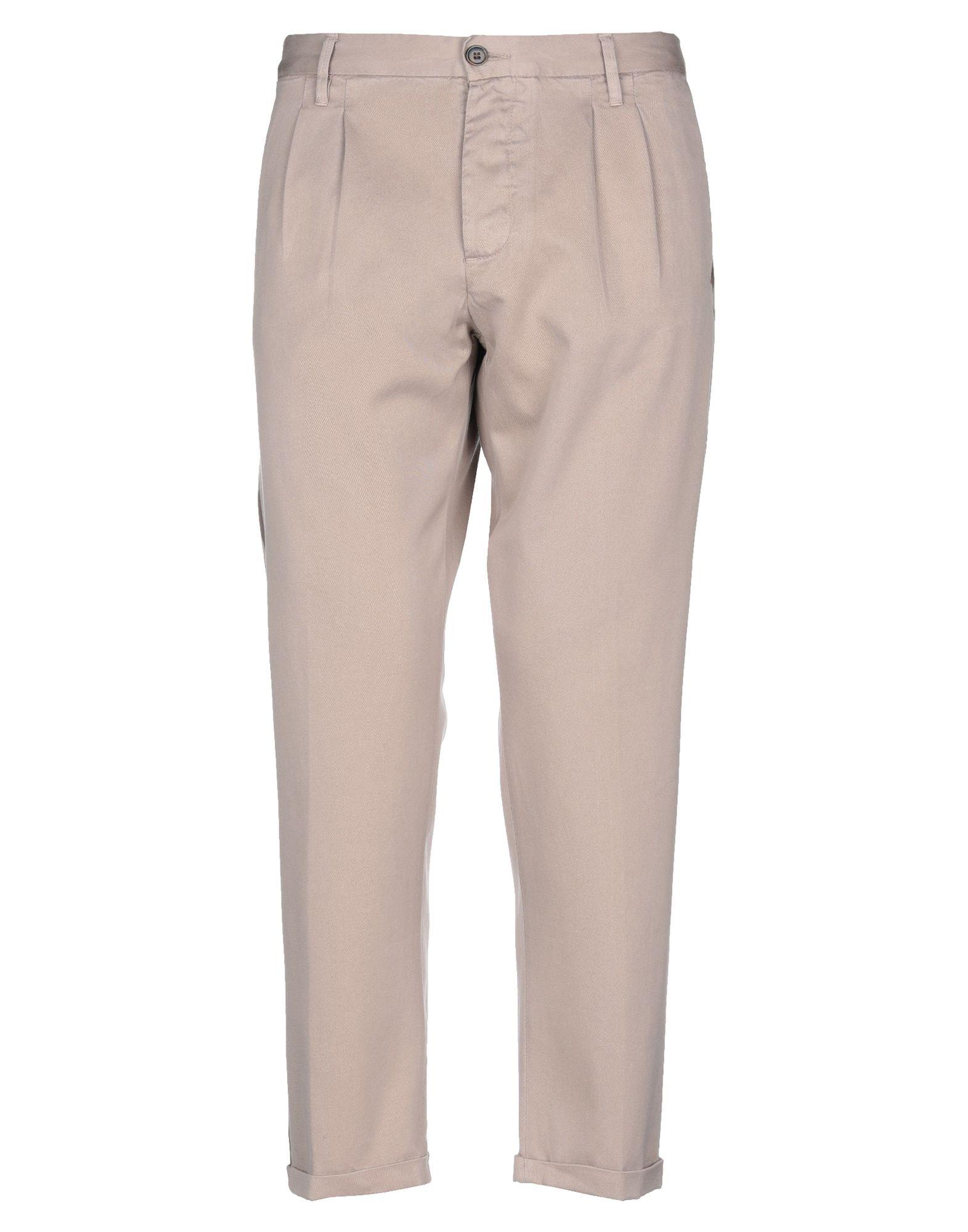 《送料無料》(+) PEOPLE メンズ パンツ サンド 35 コットン 100%