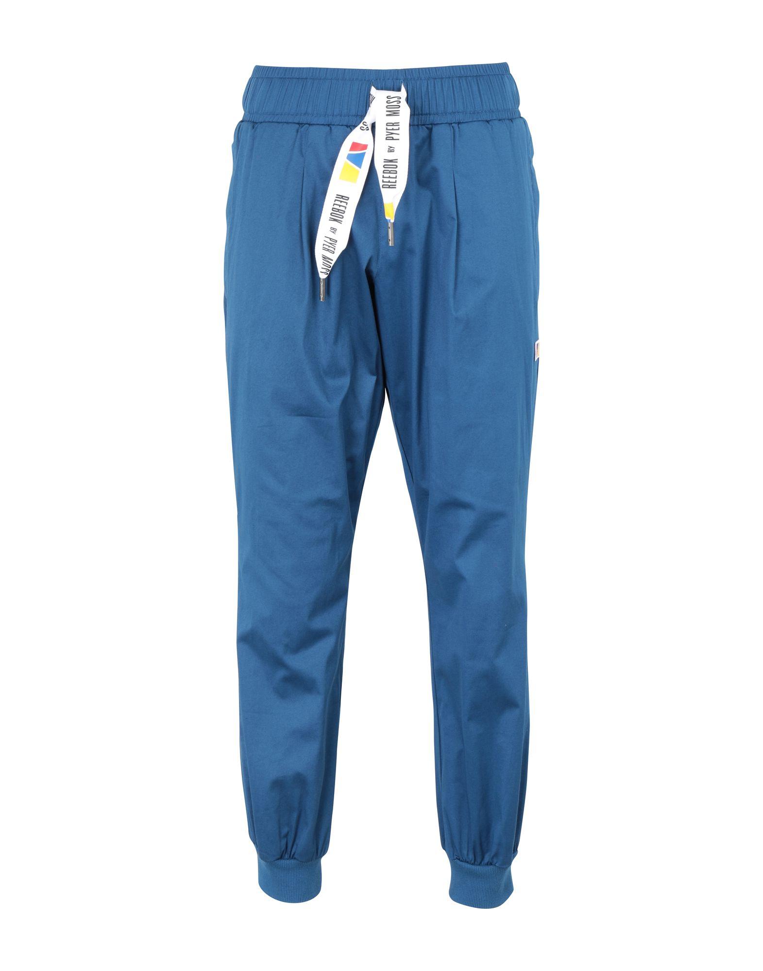 《送料無料》REEBOK x PYER MOSS メンズ パンツ ブルー S コットン 95% / ポリウレタン 5% RCxPM Twill Jogger