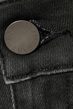 STELLA McCARTNEY Cropped zip-embellished low-rise skinny jeans